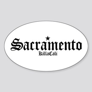 Sacramento Oval Sticker