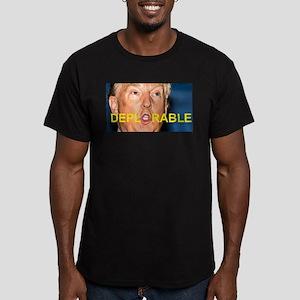DEPLORABLE (TRUMP FACE Men's Fitted T-Shirt (dark)