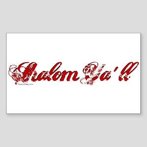 Shalom Ya'll Rectangle Sticker