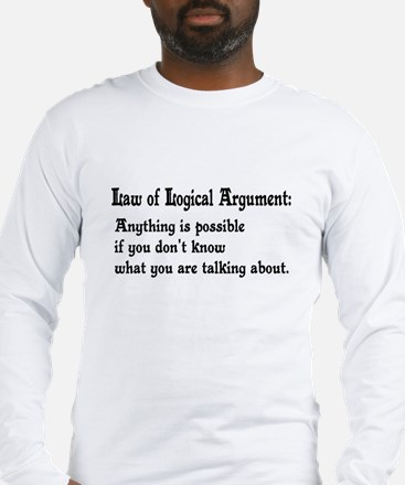 Law of Logical Argument Long Sleeve T-Shirt