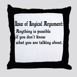 Law of Logical Argument Throw Pillow
