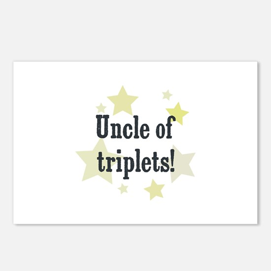 Uncle of triplets! Postcards (Package of 8)