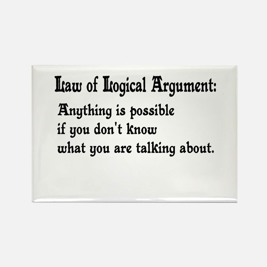 Law of Logical Argument Rectangle Magnet