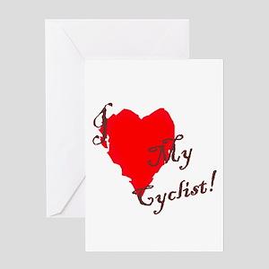 Love my cyclist Greeting Card