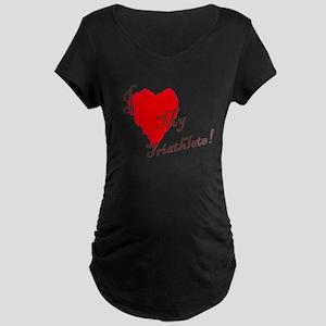 Love my triathlete Maternity Dark T-Shirt
