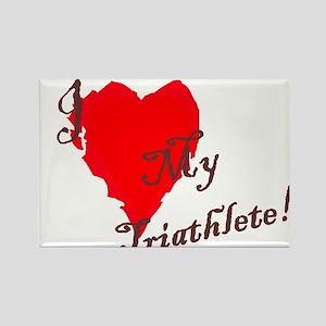 Love my triathlete Rectangle Magnet