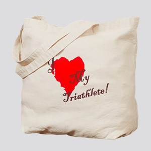 Love my triathlete Tote Bag