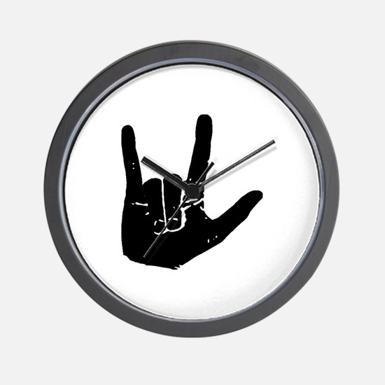 I love you hand Wall Clock