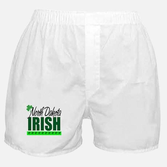 North Dakota Irish Boxer Shorts
