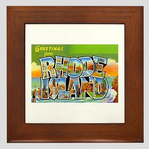 Greetings from Rhode Island Framed Tile
