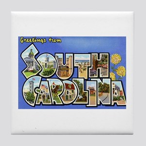 Greetings from South Carolina Tile Coaster