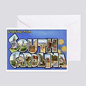 Greetings from South Carolina Greeting Card