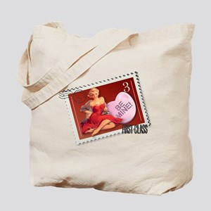Be Mine! Pin Up Stamp Tote Bag