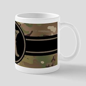 Army Camouflage Monogram: Letter 11 oz Ceramic Mug