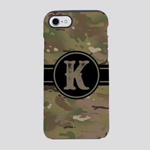 Army Camouflage Monogram: Le iPhone 8/7 Tough Case