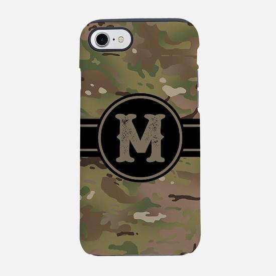 Army Camouflage Monogram: Le iPhone 8/7 Tough Case