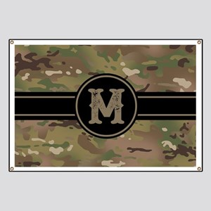 Army Camouflage Monogram: Letter M Banner