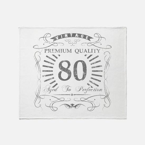80th Birthday Gag Gift Throw Blanket