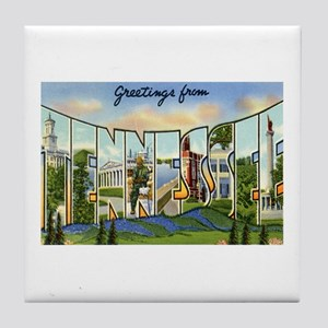 Greetings from Tennessee Tile Coaster