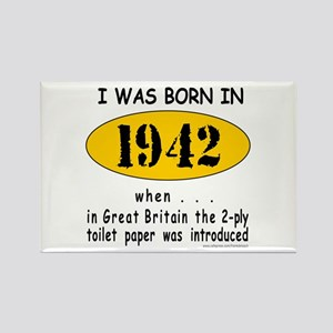 BORN IN 1942 Rectangle Magnet