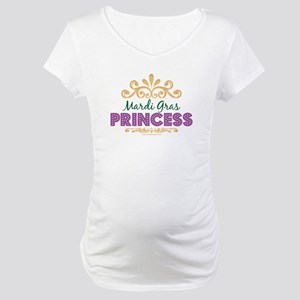 Mardi Gras Princess Maternity T-Shirt
