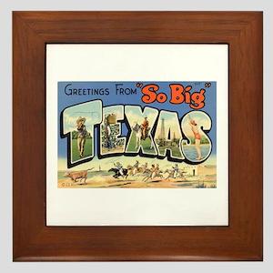 Greetings from Texas Framed Tile