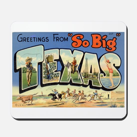 Greetings from Texas Mousepad