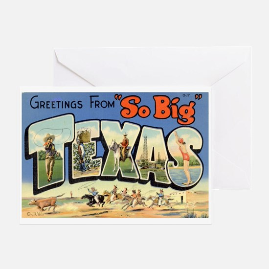 Greetings from Texas Greeting Card