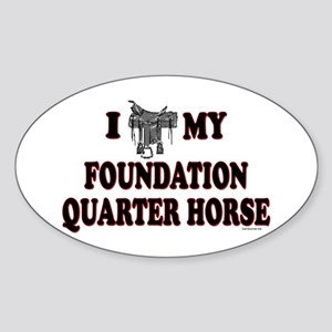 """Foundation Quarter Horse"" Oval Sticker"