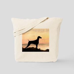 Weimaraner Sunset Tote Bag