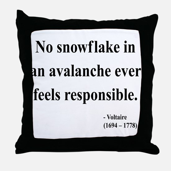 Voltaire 7 Throw Pillow