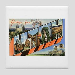 Greetings from Utah Tile Coaster