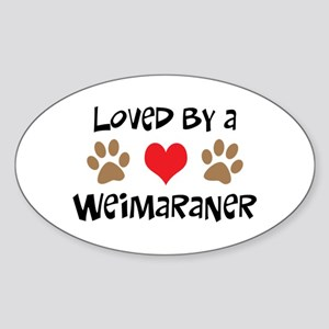 Loved By A Weim... Oval Sticker