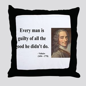 Voltaire 9 Throw Pillow
