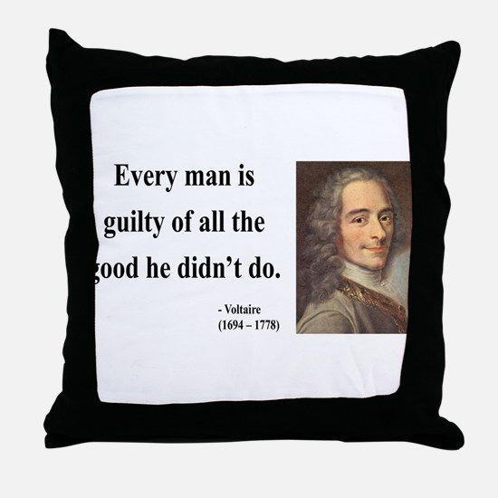 Voltaire 9 Throw Pillow