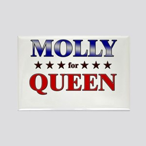MOLLY for queen Rectangle Magnet