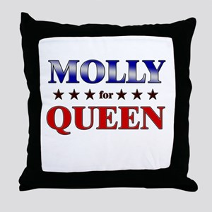 MOLLY for queen Throw Pillow