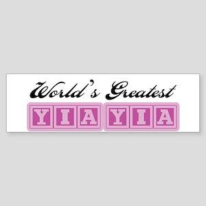 World's Greatest YiaYia Bumper Sticker