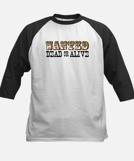 Wanted Dead or Alive Kids Baseball Jersey