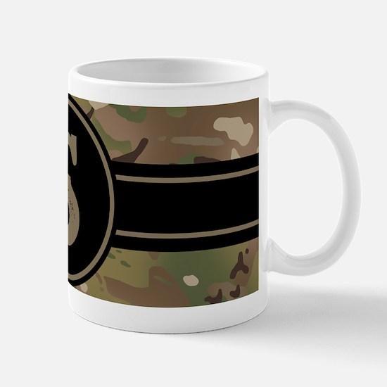 Army Camouflage Monogram: Letter Mug
