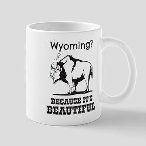 Wyoming? Because It's Beautiful Mugs
