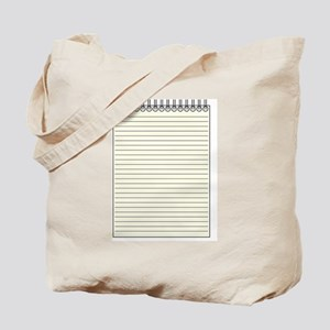 Reporter Notepad Tote Bag