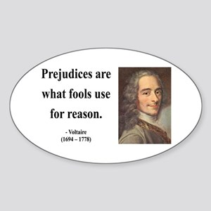 Voltaire 15 Oval Sticker
