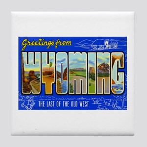 Greetings from Wyoming Tile Coaster