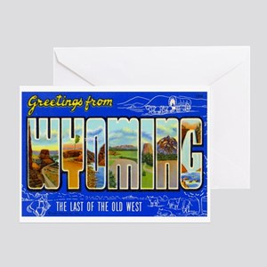 Greetings from Wyoming Greeting Card