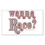 Wanna Race? Rectangle Sticker