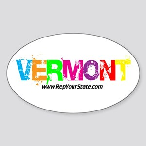 Colorful Vermont Oval Sticker