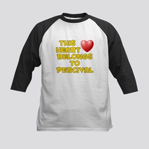 This Heart: Percival (D) Kids Baseball Jersey