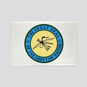Great Seal of the Choctaw Rectangle Magnet