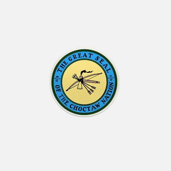 Great Seal of the Choctaw Mini Button